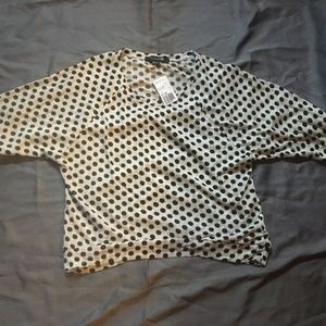 NWT Forever 21 Cream/Black Knit Top